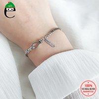 Link, Elfoplatasi Cadeia 100% 925 Sterling Thai Prata Vintage 3mm Box Pulseira para Mulheres Esposa Girls Fine Jewelry Presente ED466