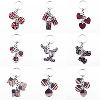 Keychain British Style Beard Pendant Gift Favor Car United Kingdom Flag Foreign Affairs Gifts American Flags Key Chain BWF7118