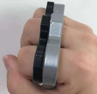 Silver Best and Black Thin Steel Brass Knuckle Dusters,self-Defense Personal Security Women's and Men's Self-defense P