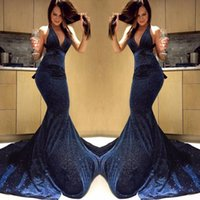 Party Dresses 2021 Sexy Backless Halter Mermaid Prom Long Gorgeous Court Train Sleeveless Gowns Charming Evening