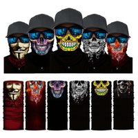 High Elastic 3d Skull Seamls Bandana Cycling Scarf Headwear Face Mask Tube Bike Ski Hiking Fashion Magic Bandanas Balaclava