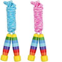 Sports Jouets Enfants Rainbow Corde sauter avec du bois