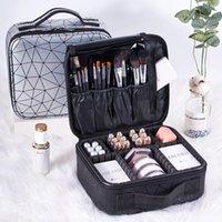 LYSGS Brand Beruf Makeup Case Mode Kosmetikkosmetik Organizer Aufbewahrungsbox Nagel Werkzeugkoffer Für Frauen Make up Tasche