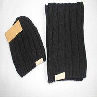 Buena calidad Sombrero de Navidad Marca caliente WGG hombres y mujeres invierno ganchillo bufandas Sombreros Sopa de sombrero de invierno cálido sombrero gorras sombreros bufandas conjuntos