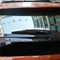 Conejillo de coches Fit para 17 PEUGEOT 3008 Accesorios Limpiaparabrisas trasero Chrome Trim Strip Silver Mirror Exterior Decoración Etiquetas engomadas
