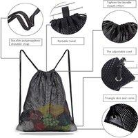 Домашние сумки для хранения Многоразовые сумка для покупок Фрукты Овощи Продуктовый покупатель Инструмент Сетка Ткань Drawstring Sack Gwe9431