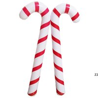 88X 25 X 7cm Inflatable Candy Cane Classic Lightweight Hanging Decoration Christmas Party PVC Balloons Adornment HWD10968