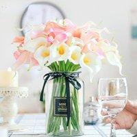PU Künstliche Blumen Calla Lilie Echte Berührung Braut Blumenstrauß Hohe Qualität Gefälschte Blume Hochzeit Home Tischdekoration Herbst