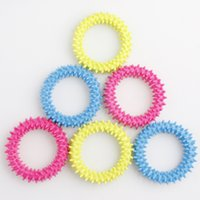 Fidget Toys Spiky Sensory Ring Decompression Chain Barbed Bracelet Anxiety Stress Reliever Squeeze Stretch Finger Game Toy 3 Colors