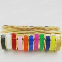 H letra fivela esmalte enamel bracelete aço titânio aço de alta qualidade masculino e feminino casais europeu estilo americano