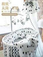 Pure Algodón Bebé Cama redonda Producto Oval Dibujo Curtina Conjuntos de ropa de cama