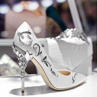 الأبيض الوردي وصمة عار الذهب يترك الزفاف أحذية الزفاف fahsion عدن عالية الكعب المرأة حزب مساء اللباس امرأة