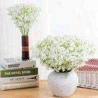 Decorative Flowers & Wreaths 60 Heads Gypsophila Silk Artificial Hydrangea Colorful Flower Branch Birthday Wedding Party Office Home Decorat