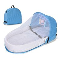 Baby Cribs Outdoor Bed Portable Nest Travel Protection Mosquito Net With Bassinet Foldable Breathable Infant Sleeping Basket