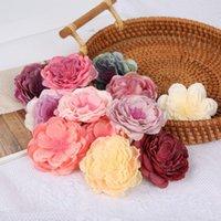 Decorative Flowers & Wreaths 5 10Pcs Silk Artificial Peony Flower Heads For Wedding Marriage Apparel Home Decor DIY Christmas Garland Decora