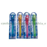 Individual Blister Card Pack For Each Black Light Pen,UV Pen With Ultra Violet Light  Invisible Ink Pen Invisible