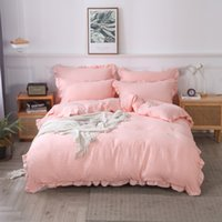 3pcs pink bedding sets fashion US full queen king size comforter set duvet cover pillowcases