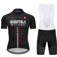 Set da corsa Boestalk 2021Cycling Jersey Suita Summer Uomo Bicycle Bicycycle Bicycycle Wear Silicone cuscino leggero e traspirante nero