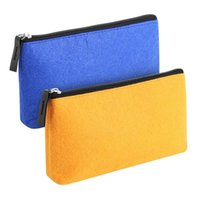 Storage Bags Free Ship Simple Fashion Customized Logo Printed Portable Coin Felt Wallet Small Zipper Pouch Bag For Accessories