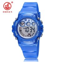 Wristwatches OHSEN Waterproof Children Watch Boys Girls LED Digital Sports Watches Plastic Kids Alarm Date Casual Select Gift For Kid