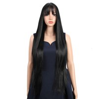 Factory wholale cheap lace blonde natural mix fashion cheap straight heat ristant soft synthetic wig bangs for black women