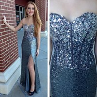 High Split Major Beading Mermaid Prom Dress sweetheart Sleeveless Long Formal Holidays Evening Party Gown Custom Made Plus Size