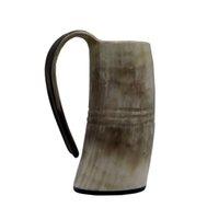 Naturel à la main Viking Tasse à boire en corne de corne Tankard de bière