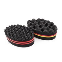 Double-Sided Magic Twisted Hairbrush Sponge African Coil Wavy Hair-Twisted Fear Twist Lock Hair Braid Curling Brush Tool 1336