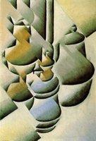 100% handgemachte Ölgemälde-Reproduktion auf Leinen-Leinwand, Stillleben mit Öllampe von Pablo Picasso, Museumsqualität