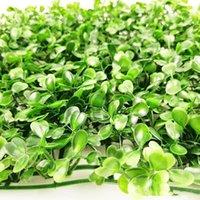"""الزهور الزهور أكاليل 10 """"شكل مربع التشفير الاصطناعي البلاستيك العشب حصيرة المحاكاة النباتات وهمية العشب 25 × 25 سم العشب للمنزل غار"""
