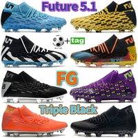 2021 Futuro 5.1 Netfit FG Sapatos de Futebol Azul Azul Purplish Vermelho Vermelho Laranja Laranja Branco NYC Prata Homens Roxo Homens Esportes Sapatilhas De Moda Tênis De Futebol