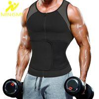 Мужские формирования тела Ningmi Taifter Trainer Shaper для похудения рубашка сауна Жилет для похудения Tummy Control Trimmer Chaipear Man
