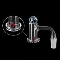 흡연 액세서리 베벨 엣지 미국 등급 용접 Terp Slurper Quartz Banger 손톱 Universe Galaxy Space Glass Bead 및 Ruby Pearl