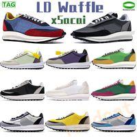 Ld Waffle Xsacai الاحذية الصنوبر الأخضر متعدد الرجال النساء أحذية رياضية سوداء النايلون قمة الرياضة البيضاء مدربين في الهواء الطلق رجل chaussures الولايات المتحدة 5.5-11