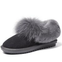 Boots Australia Women Snow 100% Genuine Leather Ankle With Real Fur Plush Ladies Winter Warm Shoes Botas Mujer