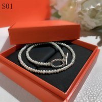 High Quality lady Beaded Necklaces Jewelry Luxury imitation Necklaces for womens Jewelry Pearl Necklace Designer Metal Design Beaded Necklace Lover womens Gifts