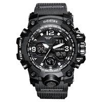 Addies Spor Askeri Bilek İzle Erkekler Saatler Marka Erkek Saat Çift Ekran Kol Ordusu Için Açık Su Geçirmez Saatı