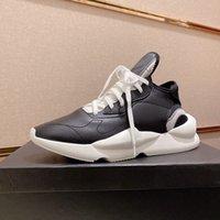 أحدث كايوا مكتنزة الرجال عارضة الأحذية الفاخرة جلد طبيعي أصفر أسود أحمر أبيض Y3 أحذية رياضة حجم 35-45 مع مربع