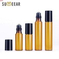 3ml 5 ml 10 ml botellas de aceite esencial botellas de aceite rolletable en botella marrón protegido de vidrio ligero para muestras gifthigh qty