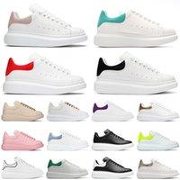2021 Fashion Men Women Shoes Designer Leather Lace Up Platform Oversized Sole Sneakers White Black Off Luxury velvet suede Casual Shoe Size 35-45