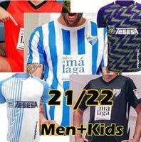 2021 2022 Malaga Soccer Jerseys Málaga 21/22 K. Bare Juanpi Adrian CF كرة القدم قميص Juankar Camiseta de Fútbol Juande Mens Hombres Oryms