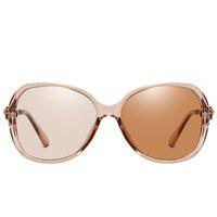 68٪ خصم 2021 النظارات الشمسية الاستقطاب photoChromic sunglaases امرأة خمر الفاخرة النظارات الشمس النظارات الشمسية ظلال للنساء UV400 MNJ9