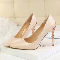 Qualität Große Plattform Frauen Rot Unterseite High Heels Peep Toe Frauen Schuhe Schwarzes Lackleder Extrem High Heel mit Box