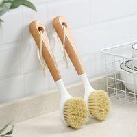 La brosse de pot de nettoyage de la cuisine ne colle pas à l'huile et le lave-vaisselle à long manche sale peut être une cuisinière d'évier murale