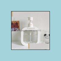 Salle de bain aesories baignoire maison gardent aessory ensemble de savon blanc distributeur de savon bouteille désinfectant cosmétique shampooing corps lavage lotion outil de voyage