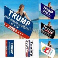 150 * 75см быстрой сухой февральной ванны пляжные полотенца президент Trump Towel US флаг печати коврики песок одеяла для перемещения для душа