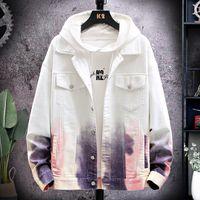 Jaquetas masculinas por atacado jaqueta jeans macho primavera e outono coreano estudantes casuais gradiente ferramentas de ferramentas adolescentes roupas losi
