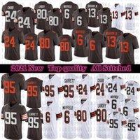2021 hombres 95 Myles Garrett Football Jersey 24 Nick Chubb 6 Baker Mayfield 80 Jarvis Landry 13 Odell Beckham JR Costadas Jerseys