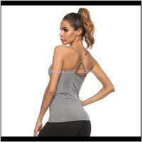Running Jerseys Yoga Shirt Beautiful Back Women Strap Tight Sleeveless High Elastic Side Pocket Slim Cycling Vest Breathable Sweat Spo Luhtj