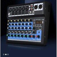 Professionele audio-mixer 8 Kanaalmengconsole Digitale DSP-versterker Studio Sound Board Ingebouwde Bluetooth USB-interface